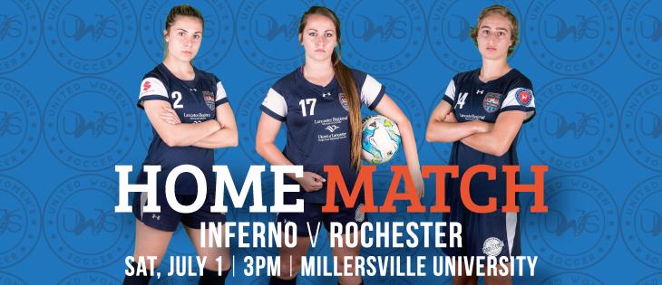 Lancaster Inferno vs Rochester Lancers United Women's Soccer Game Pennsylvania UWS