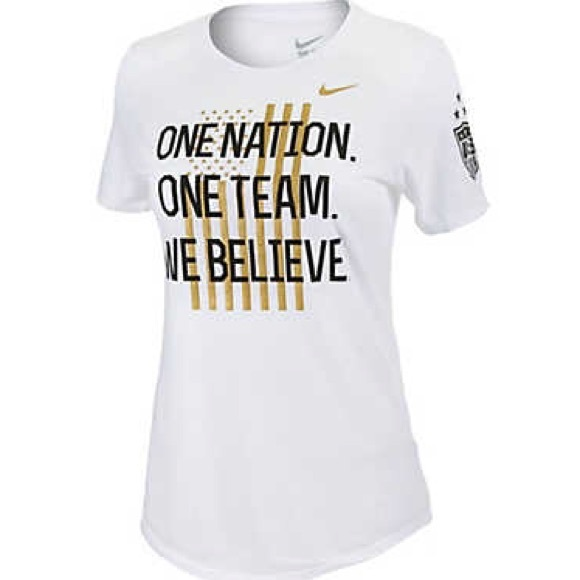 win free contest one nation one team we believe t- shirt nike
