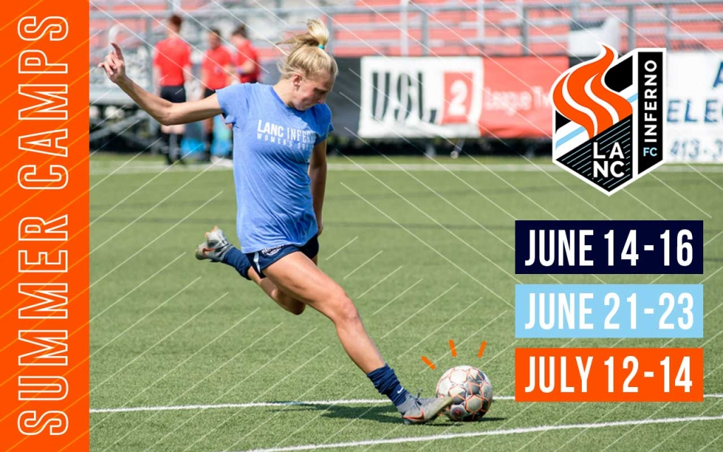 United Women's Soccer UWS national pro-am league Lancaster Inferno Lanc PA Pennsyvania all-girls soccer camp girls only soccer camp